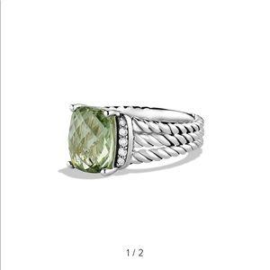 David yurman prasiolite ring- size 6